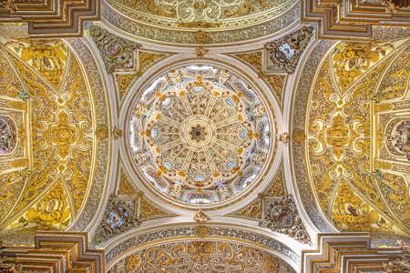 cupolas: GRANADA, SPAIN - MAY 29, 2015: The ceiling and cupolas of church Nuestra Senora de las Angustias. Editorial