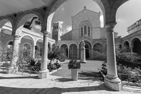 atrium: Jerusalem - The atrium of st. Stephens church