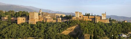 pal: Granada - The panorama of Alhambra palace and fortress complex.