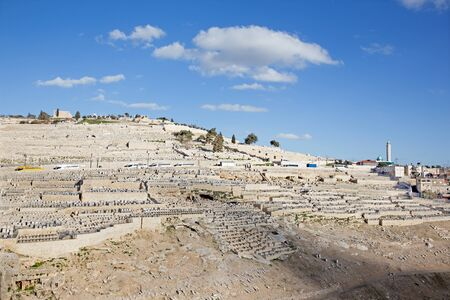 mount of olives: Jerusalem - The jewish cemetery on the Mount of Olives.