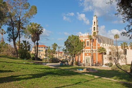 aviv: TEL AVIV, ISRAEL - MARCH 2, 2015: The st. Peters church in old Jaffa in Tel Aviv Stock Photo