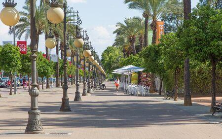 paseo: CORDOBA, SPAIN - MAY 25, 2015: The promenade of street Paseo de la Victoria. Editorial