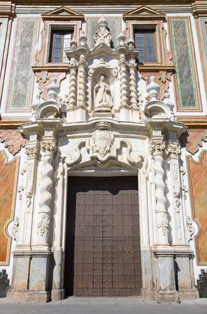 convento: Cordoba - The baroque portal of church Convento de la Merced  (1716 - 1745) Stock Photo