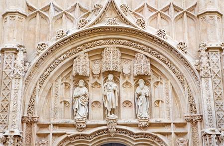 ruiz: CORDOBA, SPAIN - MAY 26, 2015: The detail of gothic portal of Royal hospital San Sebastian built to a design by Hernan Ruiz, el Viejo (1512 - 1516)
