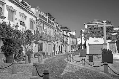 bartolome: Granada - Little square and street Calle Principal de San Bartolome in Albazyin district.