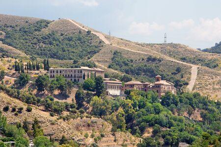 Granada - Abadia del Sacromonte monastery from Alhambra Editorial