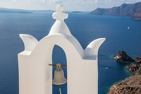 little bell: Santorini - The bell tower of typically little church in Oia (Ia)