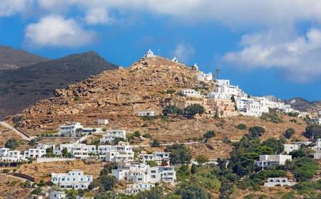 chora: Chora - The hill with the chapels in Chora town on the Ios island in the Aegean Sea (Greece).