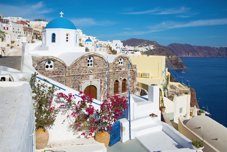 typically: Santorini - The look to typically blue-white churche in Oia.