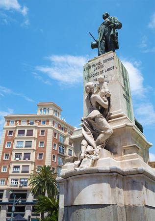 mariano: MALAGA, SPAIN - MAY 25, 2015: The memorial of Manuel Domingo Larios y Larios (1836-1895) created by Mariano Benlliure (1899).