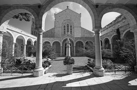 atrium: JERUSALEM, ISRAEL - MARCH 5, 2015: The atrium of st. Stephens church