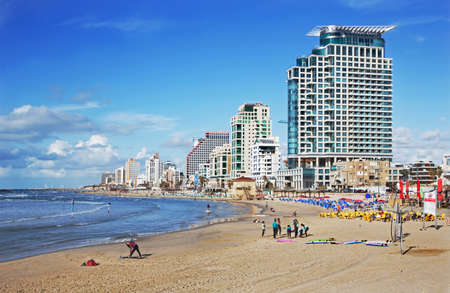 tel: TEL AVIV, ISRAEL - MARCH 2, 2015: The coast of Tel Aviv