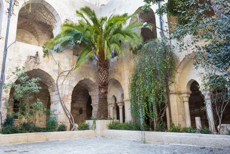 atrium: JERUSALEM, ISRAEL - MARCH 5, 2015: The atrium of The Church of the Redeemer.