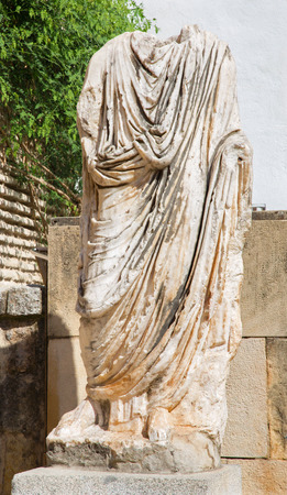 archeological: CORDOBA, SPAIN - MAY 26, 2015: The ancient rome statue in atrium of Archeological museum. Editorial