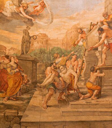 andrew: ROME, ITALY - MARCH 27, 2015: The Deposition of st. Andrew the apostle in church Basilica di Sant Andrea della Valle by Mattia Preti (1613 - 1699)