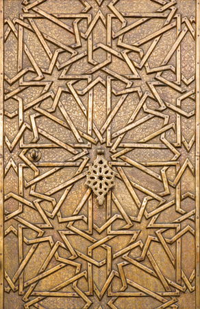 mudejar: TEL AVIV, ISRAEL - MARCH 2, 2015: The metal gate in arabic style in old Jaffa on the house on the Kedumim Square. Editorial