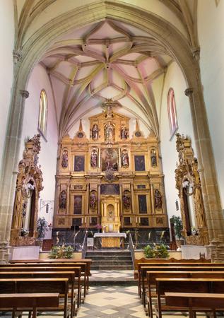 ocampo: CORDOBA, SPAIN - MAY 26, 2015: The presbytery of church of monastery Convento Santa Marta  by Andres Ocampo and painter Baltasar del Aguila from 16. cent.