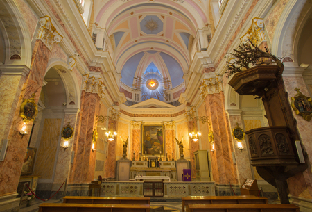 jafo: TEL AVIV, ISRAEL - MARCH 2, 2015: The nave of st. Peters church in old Jaffa.