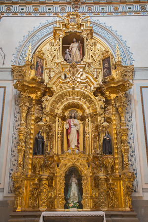 anton: GRANADA, SPAIN - MAY 29, 2015: The baroque side altar of Heart of Jesus in Iglesia de san Anton church  from 17. cent. by unknown artist. Editorial