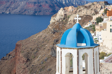 ia: Santorini - The tower of typically little church in Oia (Ia)