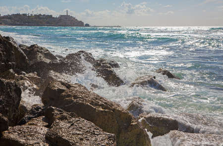 jafo: Tel Aviv - the surge and old Jaffa in the background