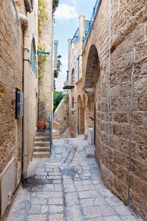 jaffa: Te Aviv - Little aisle of old Jaffa Stock Photo