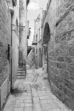 jafo: Te Aviv - Little aisle of old Jaffa Stock Photo