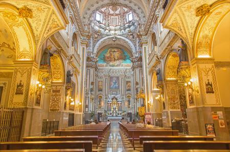 anton: GRANADA, SPAIN - MAY 29, 2015: The baroque nave of Iglesia de san Anton church. Editorial