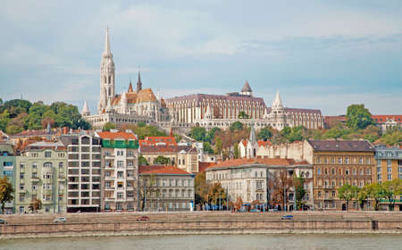 danube: Budapest - St. Matthews Cathedral over Danube