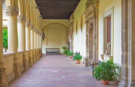 atrium: GRANADA, SPAIN - MAY 29, 2015: The atrium of church Monasterio de San Jeronimo.