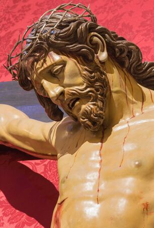 affiliation: GRANADA, SPAIN - MAY 30, 2015: The crucifixion statue in church Iglesia del Sagrario. Editorial