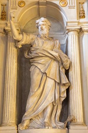 christendom: ROME, ITALY - MARCH 26, 2015: The statue of st. Paul the Apostle by sculptor Paolo Naldini (1619 - 1691) in church Chiesa di San Marino ai Monti.