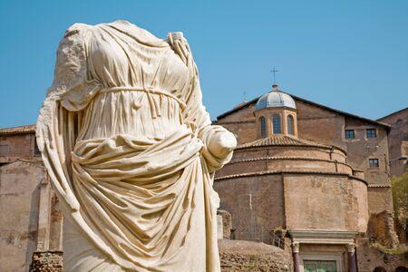 atrium: Rome - statue from Atrium Vestae - Forum romanum Editorial