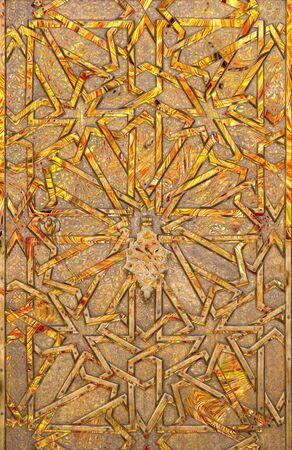 mudejar: Abstract moorish background - mudejar gate