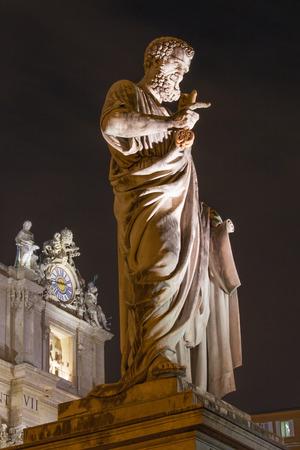 Rome - St. Peter s statue in front of Basilica di San Pietro