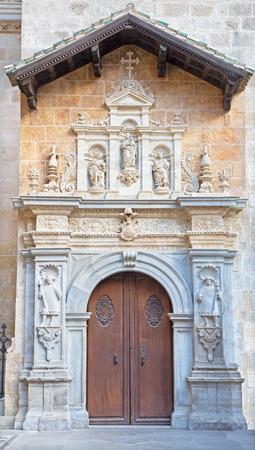 real renaissance: Granada - The renaissance Capilla Real portal Stock Photo