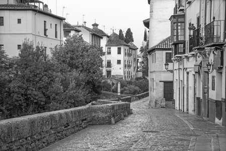 carrera: Granada - Carrera del Darro street street in morning.