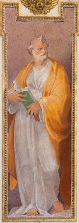 ROME, ITALY - MARCH 12, 2016: The St. Peter the Apostle fresco in church Basilica San Giovanni dei Fiorentini by Nicolo Circignani (1590) in Scarlatti chapel. Editorial
