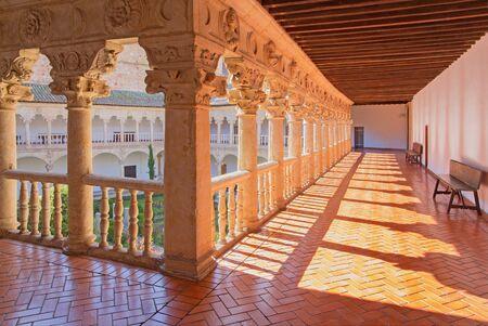 atrium: SALAMANCA, SPAIN, APRIL - 18, 2016: The atrium of Convento de las Duanas. Editorial