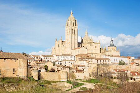 Segovia -  Cathedral Nuestra Senora de la Asuncion y de San Frutos de Segovia Stock Photo
