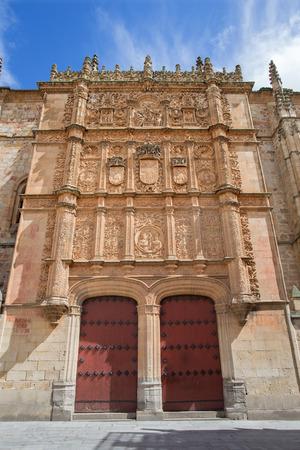 plateresque: Salamanca - The plateresque fa�ade of the University of Salamanca form 16. cent. Stock Photo