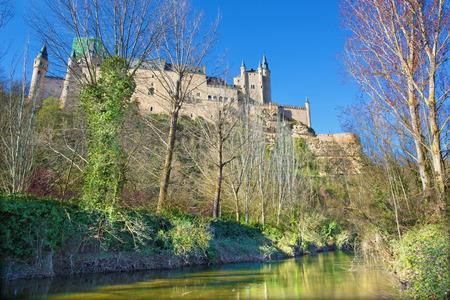 Segovia - Alcazar castle in morning light.