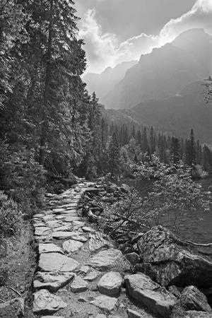 oko: High Tatras - Tourist way round of Morskie Oko lake