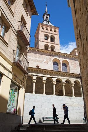 segovia: SEGOVIA, SPAIN, APRIL - 14, 2016: Iglesia  San Martin church Editorial