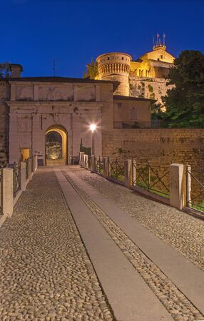 Brescia - The gate and Castle