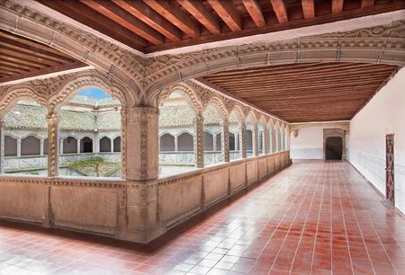 AVILA, SPAIN, APRIL - 19, 2016: The atrium in Real monasterio de Santo Tomas.