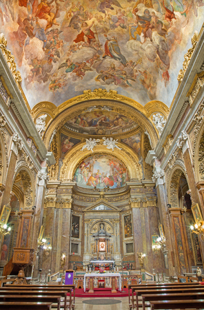 ROME, ITALY - MARCH 9, 2016: The church Chiesa di San Silvestro in Capite.