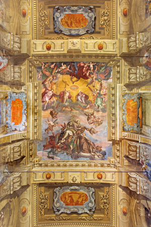 carmine: BRESCIA, ITALY - MAY 23, 2016: The fresco of Assumption of Virgin Mary on the vault ofn church Chiesa di Santa Maria del Carmine by Tommaso Sandrini (1580 - 1630) Editorial