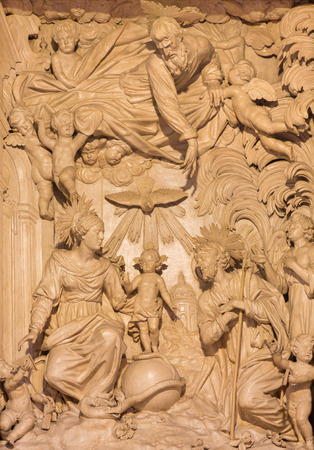 family church: CREMONA, ITALY - MAY 25, 2016: by Giacomo Bartesi (16. - 17. cent.) Editorial