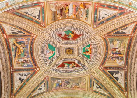 CREMONA, ITALY - MAY 24, 2016: The fresco on the wault of side chapel in San Sigismondo church by artists Giulio Campi, Bernardino Campi e Bernardino Gatti (1564 - 1567). Editorial